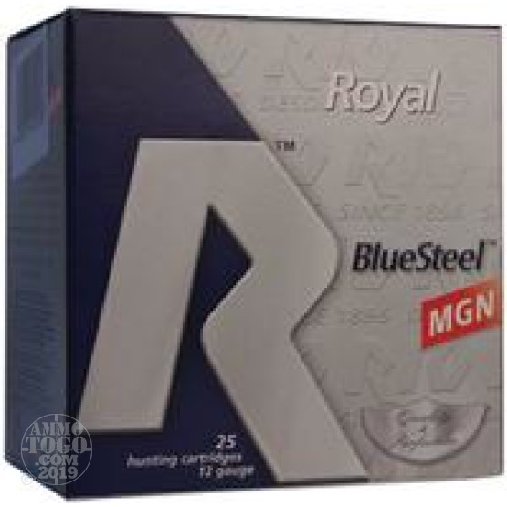 "25rds - 12 Ga. Rio Royal BlueSteel 3"" 1 3/8oz #4 Steel Shot Ammo"