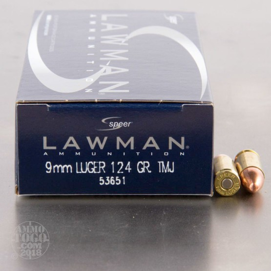 1000rds - 9mm Speer Lawman 124gr. TMJ Ammo