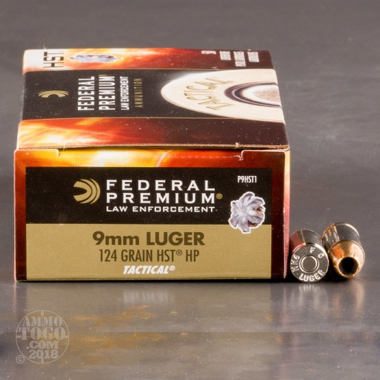 Federal Premium Law Enforcement 9mm 124 Grain HST JHP - 1000 Rounds