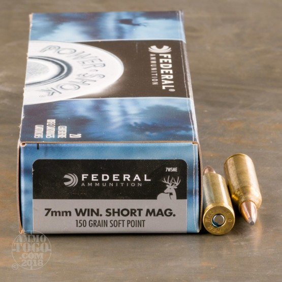 20rds - 7mm WSM Federal Power-Shok 150gr. Soft Point Ammo