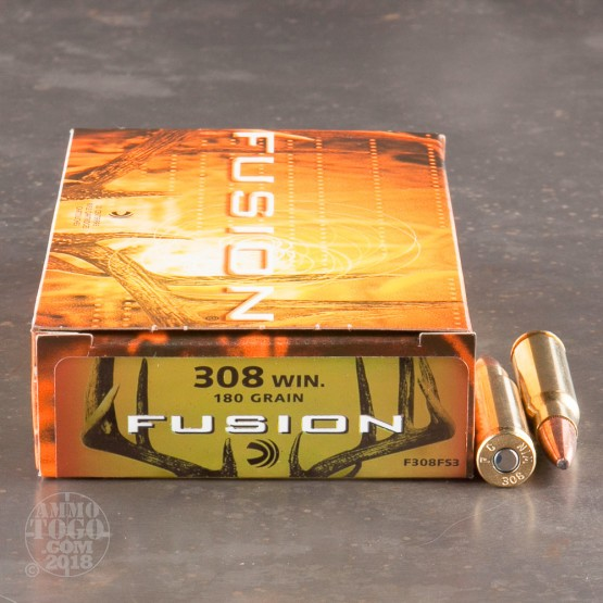 20rds - 308 Federal Fusion 180gr. SP Ammo