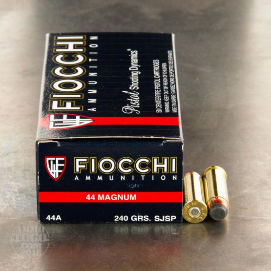 50rds - 44 Mag Fiocchi 240gr Jacketed Soft Point Ammo