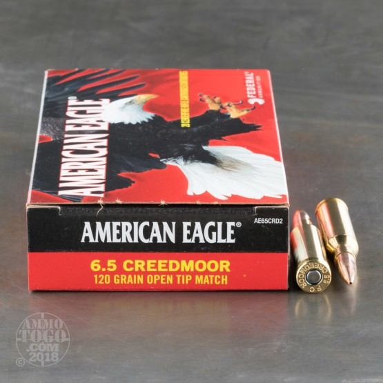 6.5mm Creedmoor Open Tip Match Ammo for Sale by Federal - 200 Rounds