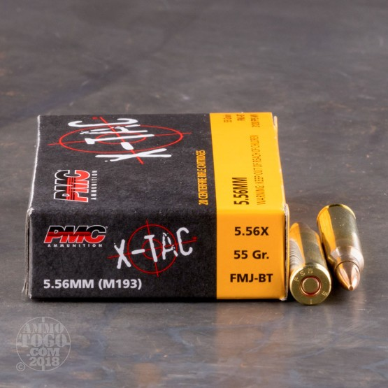 20rds - 5.56 PMC X-TAC 55gr. (XP193) Full Metal Jacket Ammo