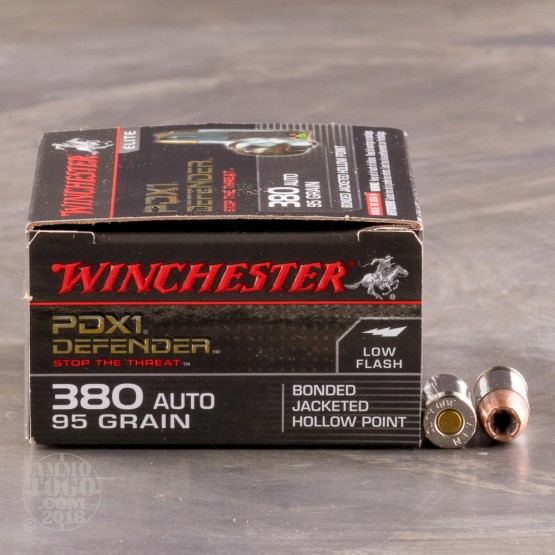 20rds - .380 Auto Winchester Supreme Elite 95gr. Bonded PDX Ammo