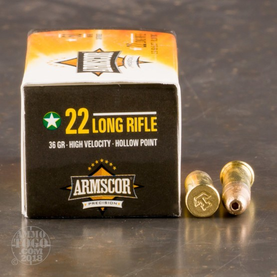 500rds - 22LR Armscor 36gr. High Velocity Hollow Point Ammo