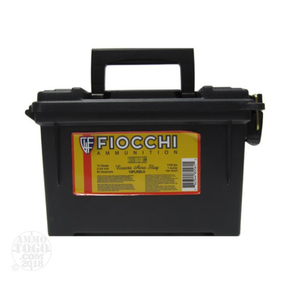"80rds - 12 Gauge Fiocchi Low Recoil 2 3/4"" 1oz. Exacta Aero Slug"