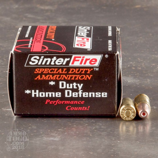 20rds - SinterFire 100gr. Frangible HP Ammo