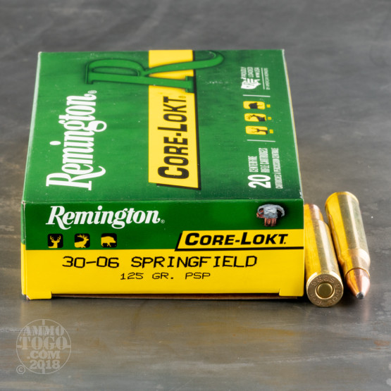 20rds – 30-06 Remington Core-Lokt 125gr. PSP Ammo