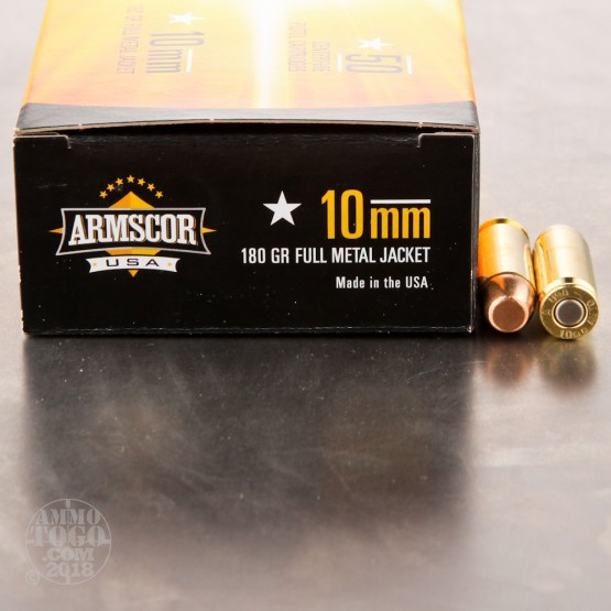 50rds - 10mm ARMSCOR USA Precision 180gr. FMJ Ammo