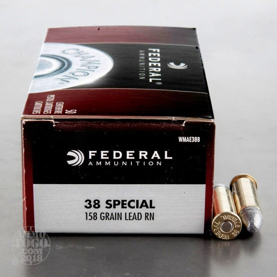 400rds - 38 Special Federal Champion 158gr. LRN Ammo