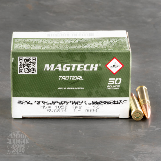 500rds – 300 AAC Blackout Magtech Subsonic 200gr. FMJ Ammo