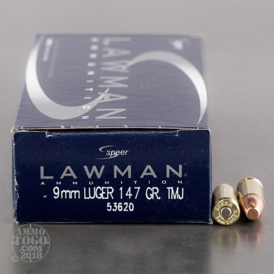 1000rds - 9mm Speer Lawman 147gr. TMJ Ammo