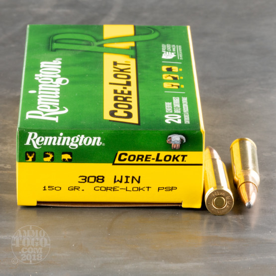 20rds - .308 Remington Express Core-Lokt 150gr. Pointed Soft Point Ammo