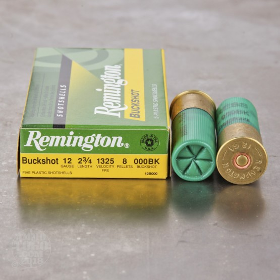 "250rds - 12 Gauge Remington 2 3/4"" 8 Pellet 000 Buckshot"