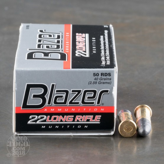 50rds - 22LR CCI Blazer 40gr. Solid Point Ammo