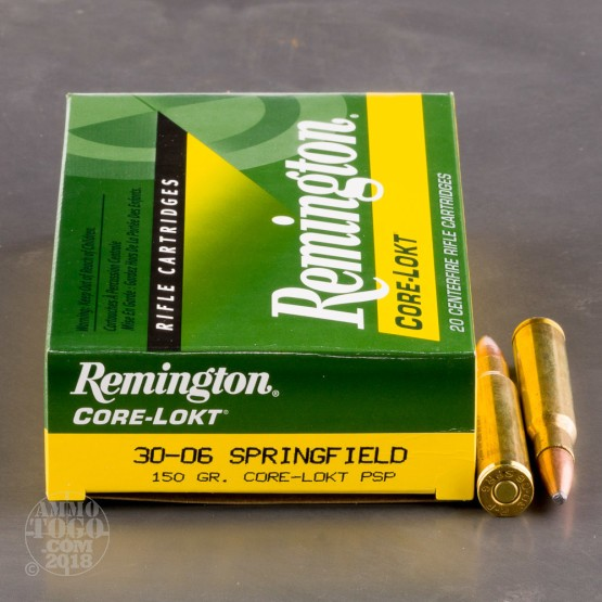 20rds - 30-06 Remington 150gr. Core-Lokt PSP Ammo