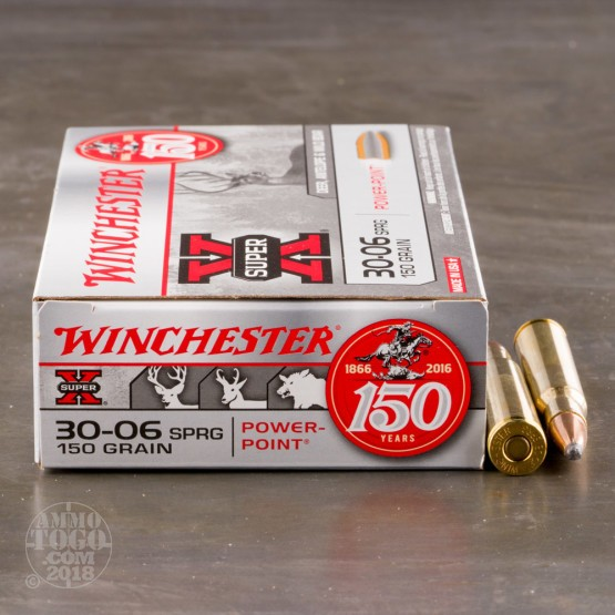 20rds - 30-06 Winchester 150gr. Super-X Power Point Ammo