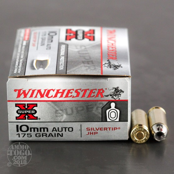 20rds - 10mm Winchester 175gr. Silver Tip Hollow Point Ammo