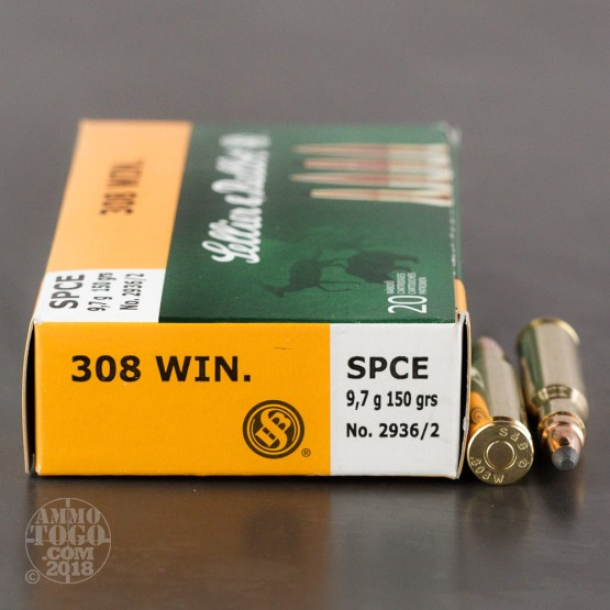 20rds - .308 Sellier & Bellot 150gr. Soft Point Ammo