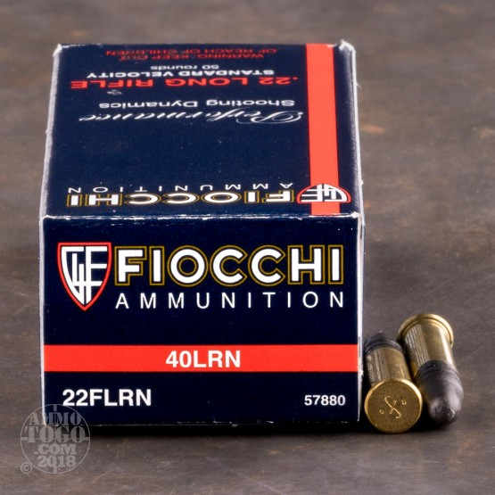 50rds - 22LR Fiocchi Standard Velocity 40gr. Lead Round Nose Ammo