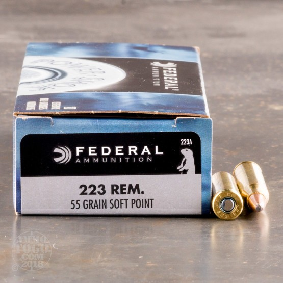 20rds - .223 Federal Power-Shok 55gr. SP Ammo
