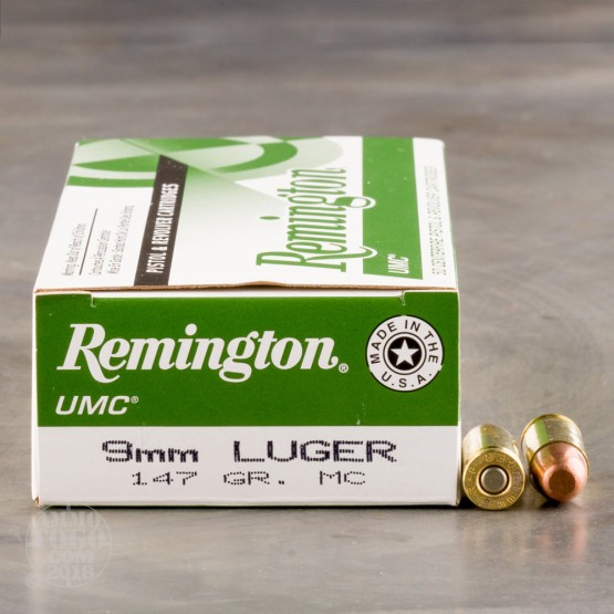 50rds - 9mm Remington UMC 147gr. Full Metal Jacket Ammo