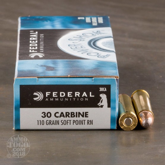 20rds - 30 Carbine Federal Power-Shok 110gr. SP Ammo