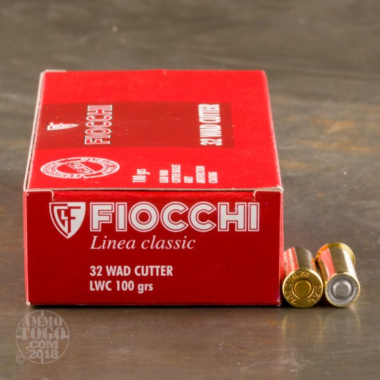 50rds - 32 S&W Long Fiocchi 100gr. Lead Wadcutter Ammo