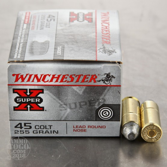 20rds - 45 Long Colt Winchester 255gr. LRN Ammo