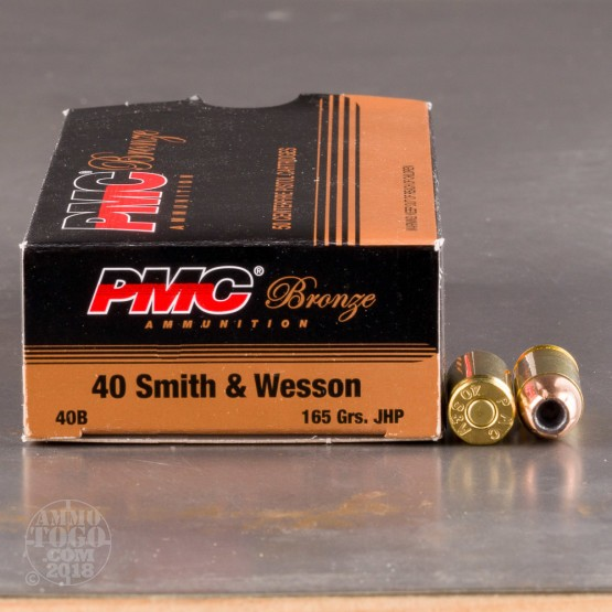 50rds - 40 S&W PMC 165gr. Jacketed Hollow Point Ammo