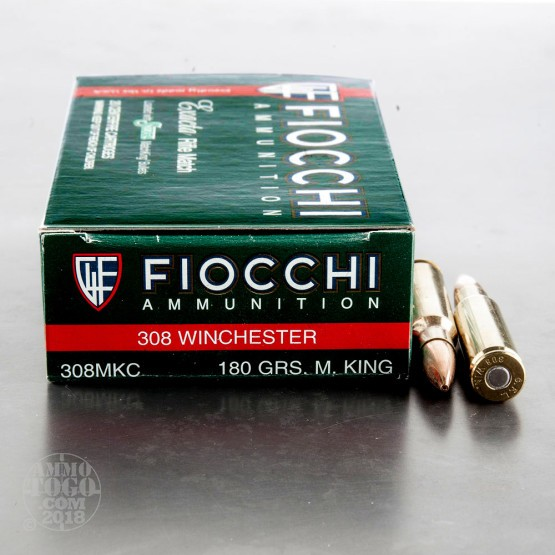 20rds - 308 Fiocchi 180gr. MatchKing Hollow Point Ammo
