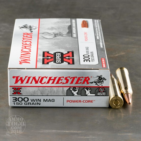 20rds - 300 Win. Mag. Winchester 150gr. Super-X Power Core 95/5 Ammo