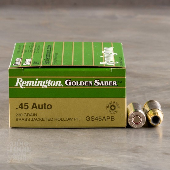 500rds - 45 ACP Remington Golden Saber 230gr. HP Ammo