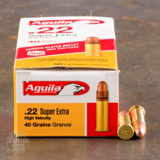 50rds - 22LR Aguila High Velocity 40gr. Solid Point Ammo