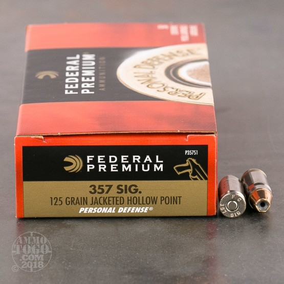 50rds - 357 Sig Federal Personal Defense 125gr. Hollow Point Ammo