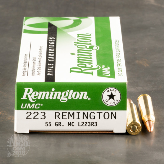 20rds - .223 Remington UMC 55gr. FMJ Ammo