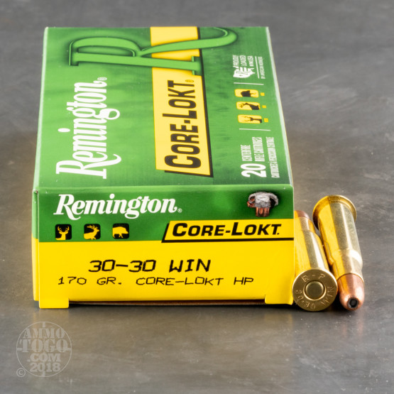 20rds - 30-30 Remington 170gr. Core-Lokt Hollow Point Ammo