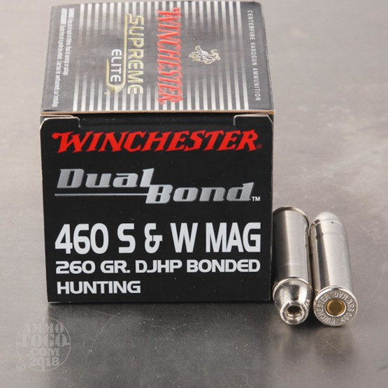 20rds - 460 S&W Mag Winchester Supreme Elite 260gr. Dual Bond HP Ammo