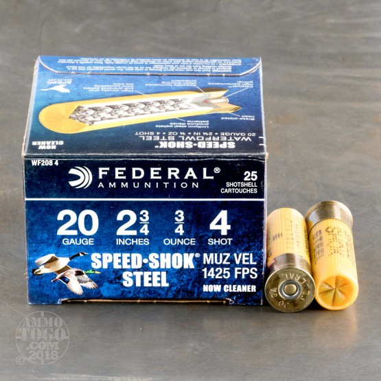 20 Gauge  4 Shot Ammo For Sale By Federal