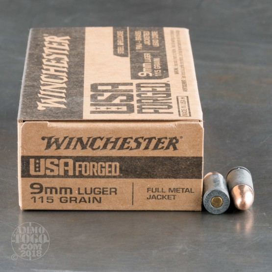 500rds - 9mm Winchester USA Forged 115gr. FMJ Ammo