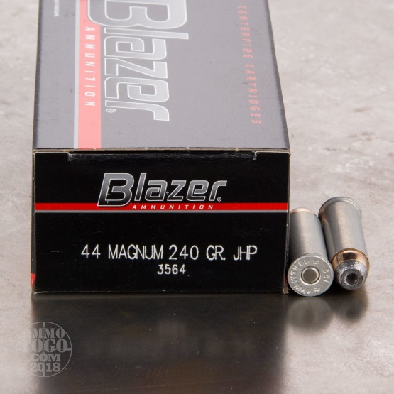 50rds - 44 Mag CCI Blazer 240gr. Jacketed Hollow Point Ammo