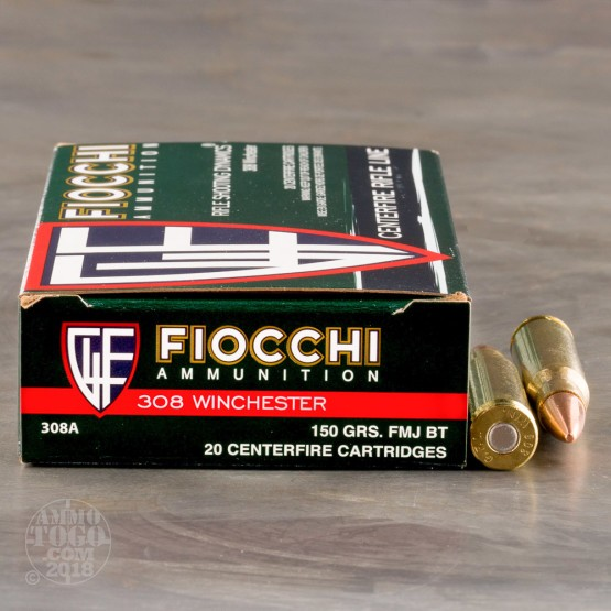 200rds - 308 Fiocchi 150gr. Full Metal Jacket Ammo
