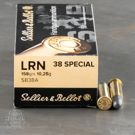 50rds - 38 Special Sellier & Bellot 158gr. LRN Ammo