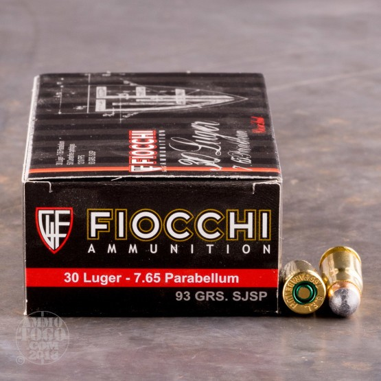 50rds - 30 Luger Fiocchi 93gr. Soft Point Ammo