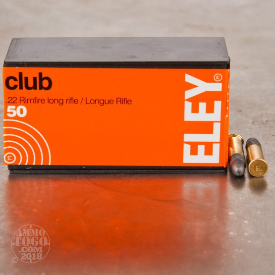 50rds - 22LR Eley Club 40gr. Solid Point Ammo