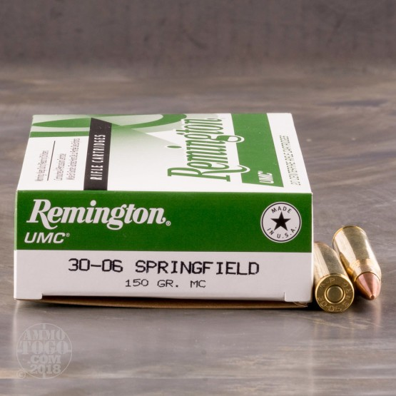 20rds - 30-06 Remington UMC 150gr. MC FMJ Ammo