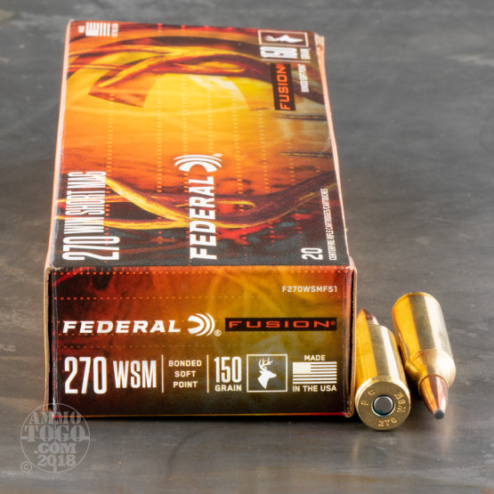 20rds - .270 Federal Fusion 150gr. SP Ammo