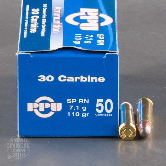 500rds - 30 Carbine Prvi Partizan 110gr Soft Point Ammo