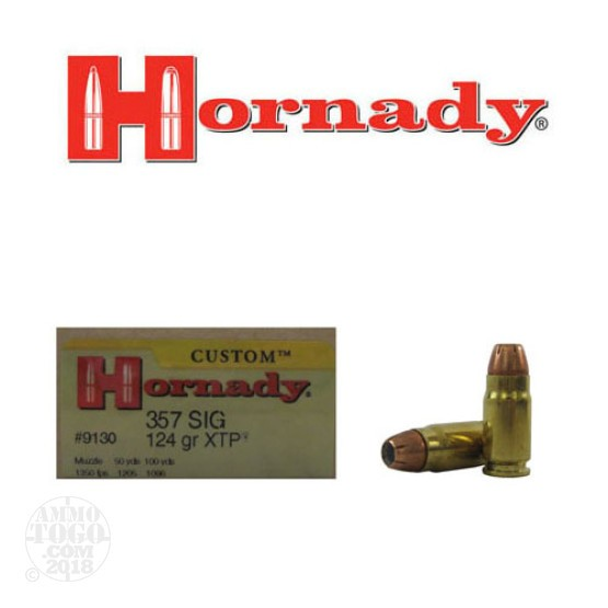 20rds - 357 Sig Hornady 124gr. XTP Hollow Point Ammo